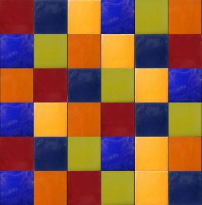 Patchwork z płytek kolorowych